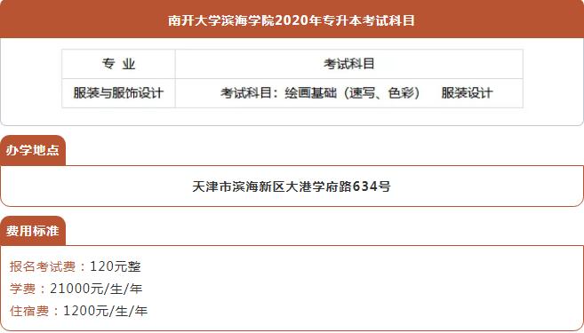 2021年天津南开大学专升本考试科目